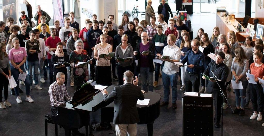 Workshop en concert middelbare school